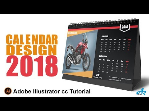 How to Create a Calendar in Illustrator cc 2018|Desk Calendar Design Illustrator cc 2018 Tutorial