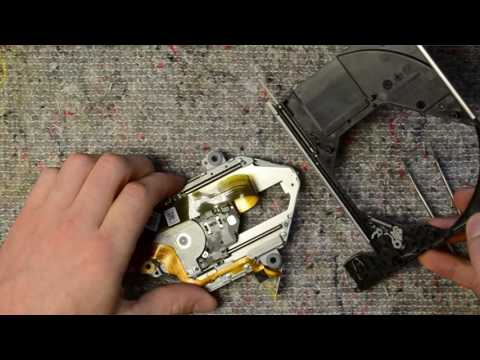 Laptop DVD-RW disassembly, take apart, teardown tutorial