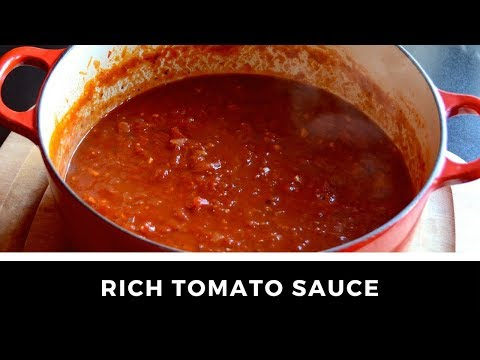 1-Minute Video! The best RICH TOMATO SAUCE recipe ever!