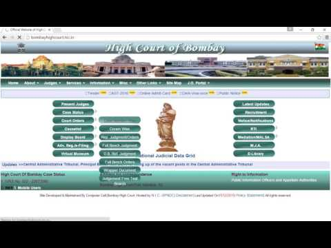 Get order copy of the case running on Bombay High Court using Case number