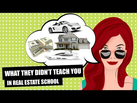 WHAT THEY DIDN'T TEACH YOU IN REAL ESTATE SCHOOL - And Why Most Agents Fail