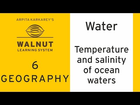 6 Geography - Water - Temperature and Salinity of Ocean Waters