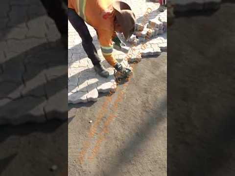 best road interlock pavers installation video