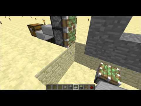 How to make a 3x3 piston door minecraft(1.7.2)