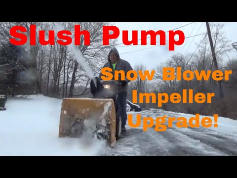 Amazing Snow Blower Upgrade, Added Impeller Extensions, No More Clogging!