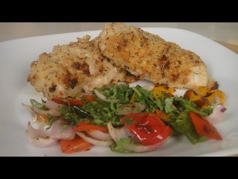 Cheesy Chicken with Grilled Peppers and Onions  | Sanjeev Kapoor Khazana