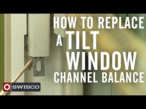 How to replace a tilt-window channel balance.
