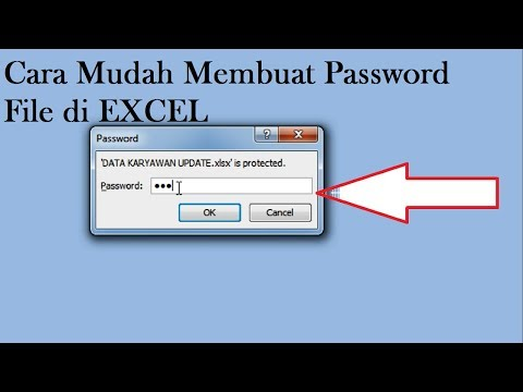 Cara tips mudah membuat password file excel 2007