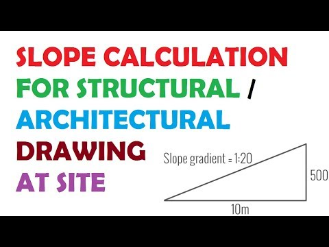 Calculation Of Slope in Structural / Architectural Drawing at Site