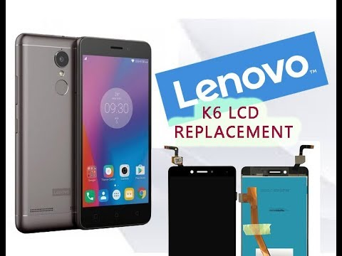 Lenovo K6 Note K53a48 How to change LCD & Digitizer set replacement Full Tutorial / Wymiana ekranu