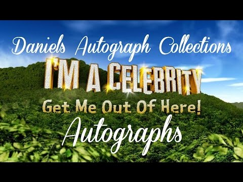 My Autograph Collection - I'm A Celebrity Get Me Out Of Here! Autographs