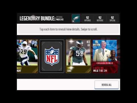 Madden Mobile Legendary Bundle Pack Opening !!!!!!