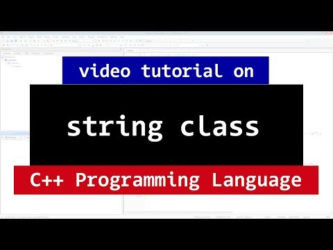 String Class in C++ | Methods and More | CPP Programming Video Tutorial
