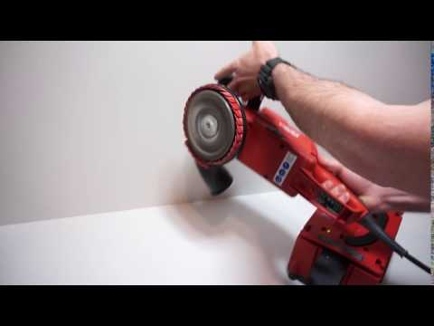 Hilti DG150 Diamond Grinder Demo