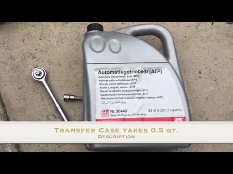 How To Change Transfer Case Fluid on Mercedes ML500   W164   X164   GL Class   ML Class