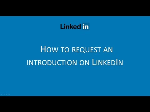 LinkedIn Hack - How to request an introduction to a 2nd level connection
