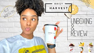 *non-sponsored* Daily Harvest Unboxing \u0026 Review 🍍  Lifestyle   UnBRElievable