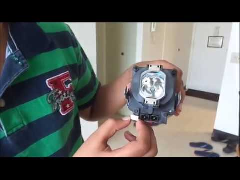 How to fix sony wega projection TV lamp fixing errors(red light blinking 3 times)