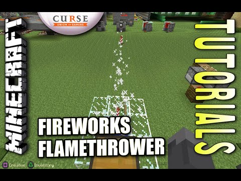 Minecraft PS4 - FIREWORKS CANNON - How To - Tutorial ( PS3 / XBOX )
