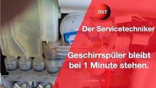 Bosch Siemens Geschirrspüler Bleibt Bei 0:01 Stehen Und Heizt Nicht