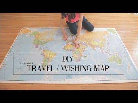 DIY Travel Wishing Map | cathydiep