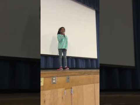 Hannah - Student Council Speech - President - 4th Grade