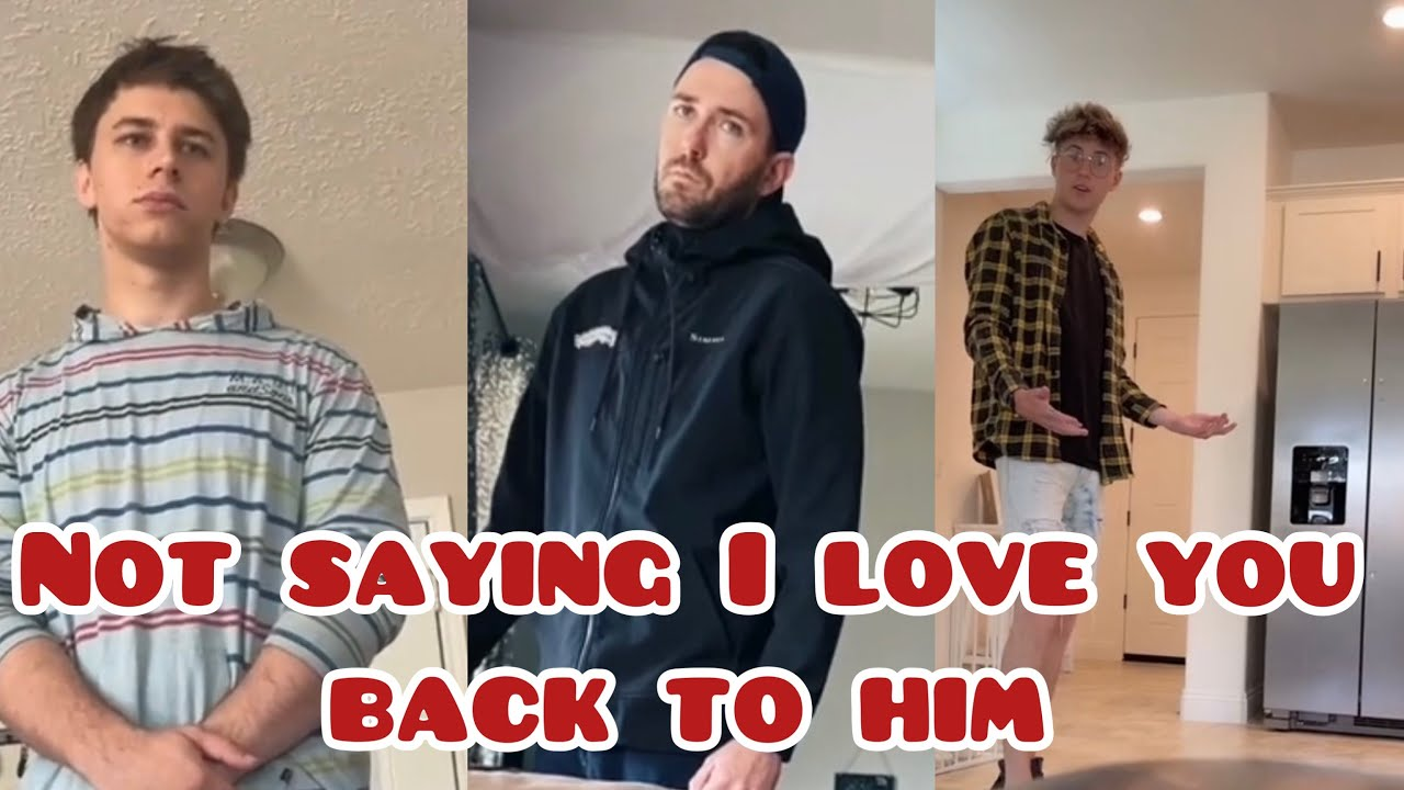 Not saying I love you back to boyfriend to see his reaction 🤣(funny)