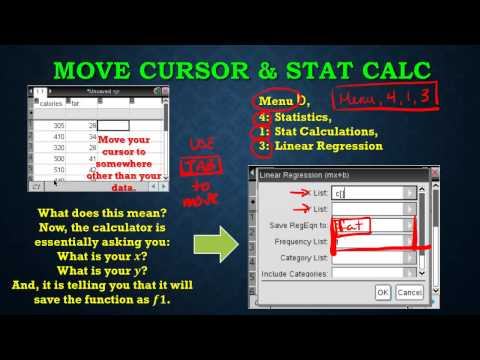 8C Correlation Coefficient and calculating on the TInSpire