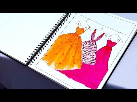 My Fashion Project   Fashion Illustrations   Application of Design   Kiran Saro