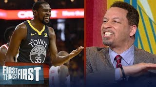 Chris Broussard blames Kevin Durant for failing Warriors in Rockets' win   NBA   FIRST THINGS FIRST