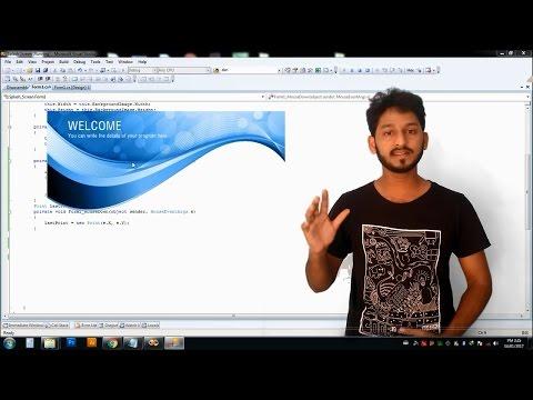C#: How to Make Borderless Custom Draggable Windows Form Application