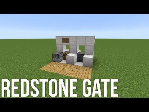 Tollgate in Minecraft - Redstone Door Tutorial