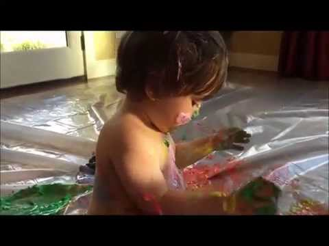 Kids Activities Series: Sensory Play with Edible Finger Paint