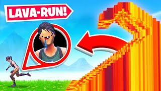 CAN YOU *ESCAPE* the LAVA *NEW* Game Mode in Fortnite Battle Royale