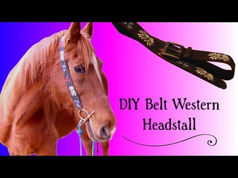 DIY How-To: Belt to Western Bridle!
