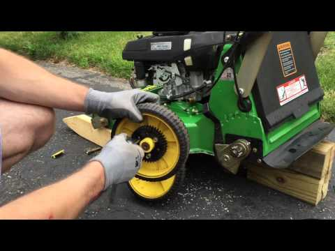 John Deere JX75 Lawn Mower Tire Rotation
