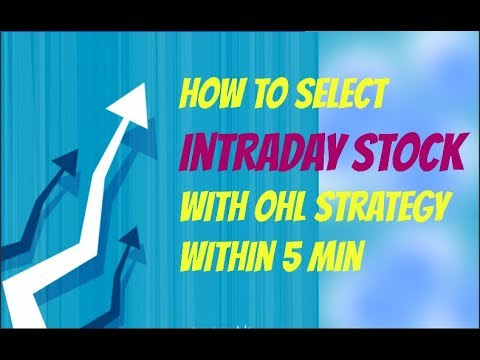 how to select intraday stock with OHL strategy within 5 min