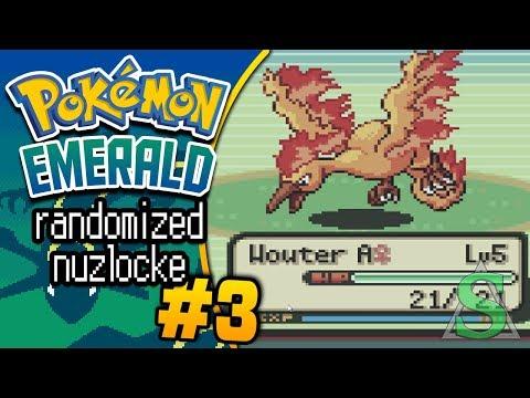 Pokémon Emerald Randomized Nuzlocke: Let's Play #3 - Een MOLTRES?! - m/ Soeren!