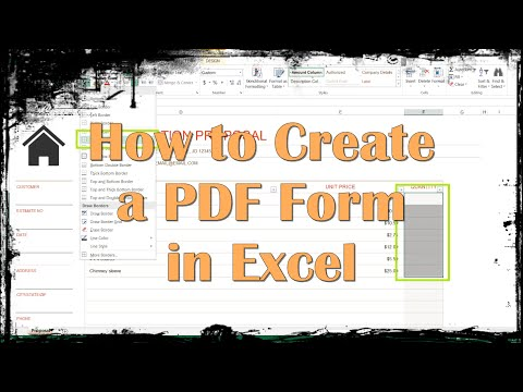 How to Create a PDF Form in Excel