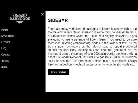 Make an awsome Sidebar with html and css