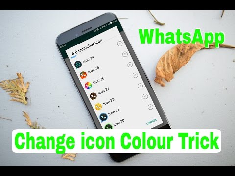 How To Change WhatsApp icon Colour | WhatsAppTrick | Icon Colour Change Trick