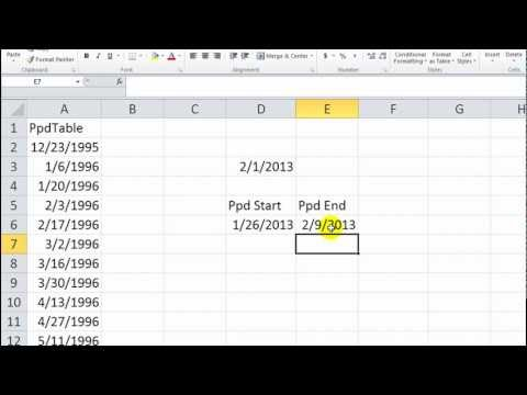 Excel VBA Tips n Tricks #11 Find the Pay Period Start Date and End Date - Easy!