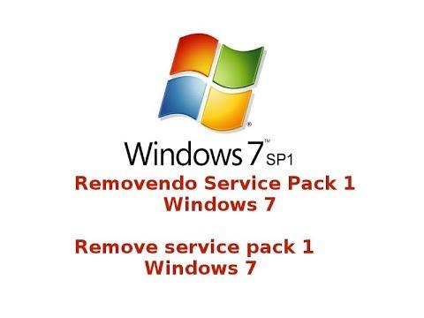 Removendo service pack SP1 Windows 7 KB976932
