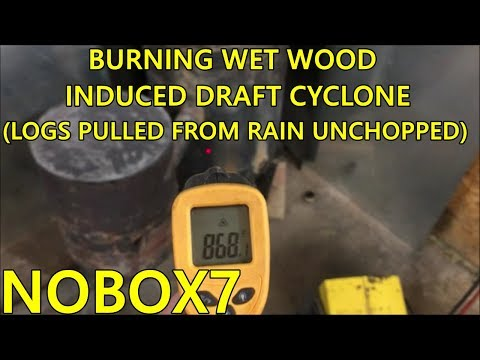 Induced draft cyclone burner  (WET WOOD) 800 deg Furnace temp