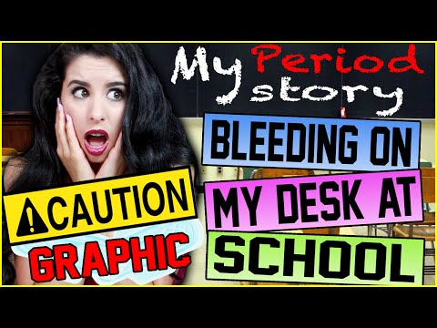 My GRAPHIC & Terrifying FIRST Period Story! | Bleeding All Over My Desk AT SCHOOL!