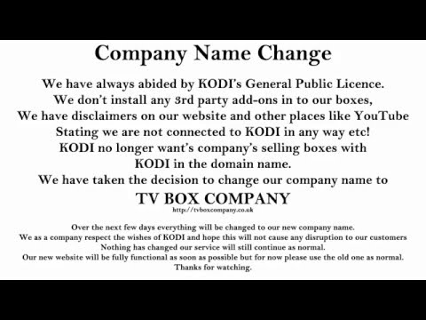Company Name Change