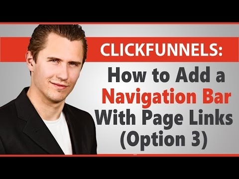 ClickFunnels: How to Add a Navigation Bar With Page Links (Option 3)