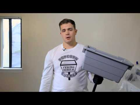 How to Remove a Popcorn Ceiling Using A Popcorn Ceiling Removal Bucket - DIY Product Demonstration