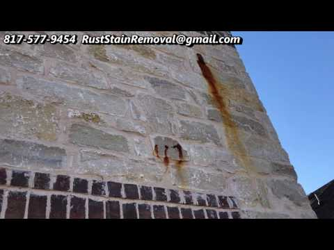 Removing Rust Stains from Bricks and Stones 817-577-9454