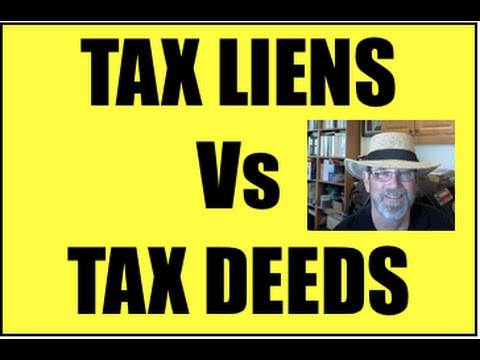 How to Buy Tax Liens and Deeds: Difference Between Tax Lien and Tax Deed Investing